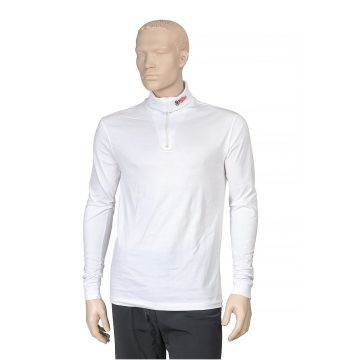 Sous Pull Manches Longues Coton Col Zip Blanc Mira