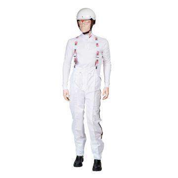 Salopette de course Microfibre Blanc Mira