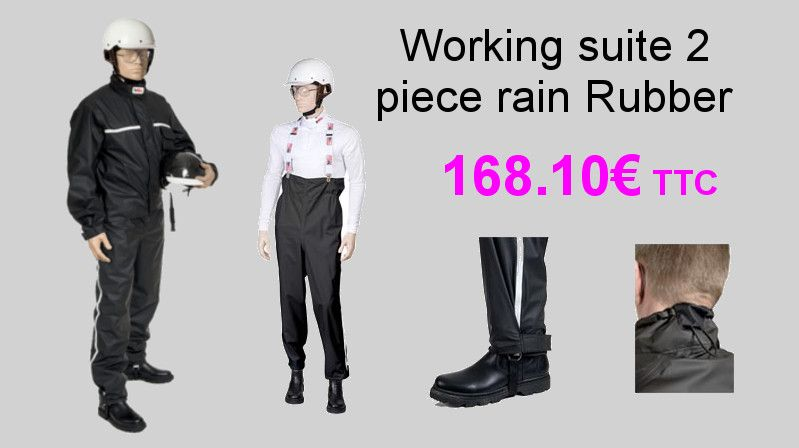 working suite 2 piece rain Rubber Mira